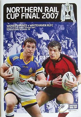 NORTHERN RAIL CUP FINAL 2007 MINT WIDNES v WHITEHAVEN