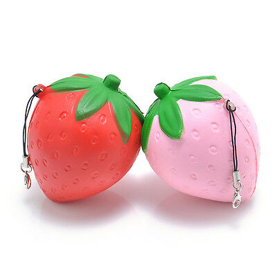 8CM Strawberry Squishy Candy Scented Slow Rising Phone Straps Toy new