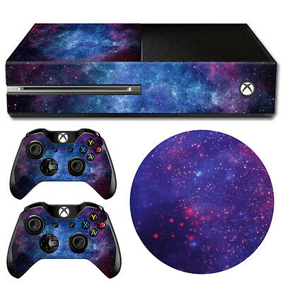 Nebula Decal Sticker Wrap Cover Protector For Xbox One Console + Controller Skin
