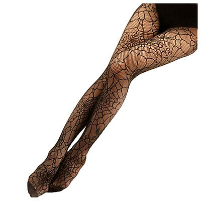 Women Black Spider Web Fishnet Pantyhose Stockings Tights Sheer for girls DW