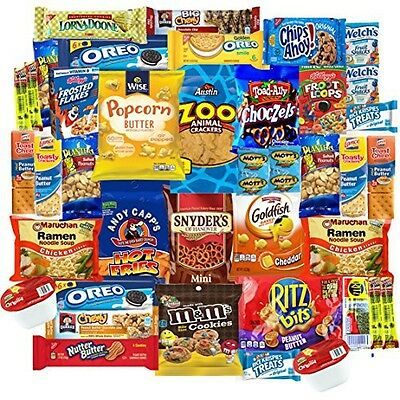Snack Chest College Students Care Package Sweet & Salty Snacks Assortment (40