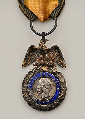France: French Military Medal Crimea 1854 Napoleon Iii Silver