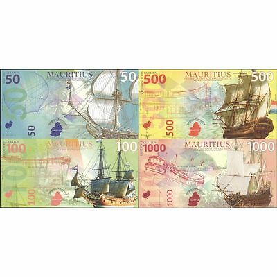TWN - NETHERLANDS MAURITIUS - 50-1000 G. 2016 UNC Set of 4 Polymer Private issue