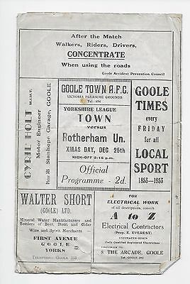 Goole Town V Rotherham United Reserves 1953 Fa Cup  England