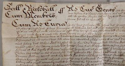 1677 ENGLISH VELLUM DOCUMENT Signed Justice Thomas Newman   WILL of George Bell