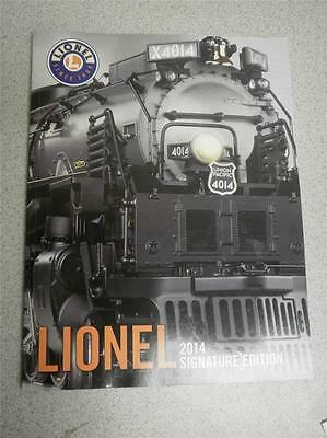 Lionel 2014 Signature Edition Catalog- 134 Pages- New