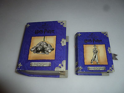 Hallmark Harry Potter Pewter Ornament Lot Fluffy On Guard Ron Weasley & Scabbers