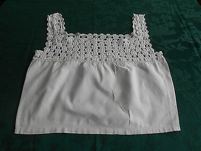 Beautiful White Hand Crochet Camisole Top In Very Good Condition, Vintage 1920