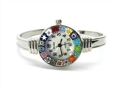 Murano Glass bangle watch - Rialto Chrome - Chrome