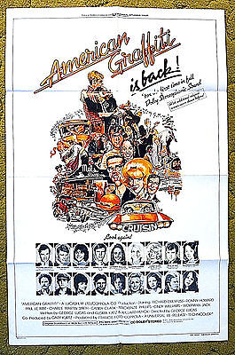 "Geo LUCUS 'growing up' classic --- ""AMERICAN GRAFFITI"" / original 1978 poster"