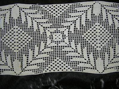 "Vintage hand Crochet Long Table Runner FANTASTIC! 17.5"" x 88"""
