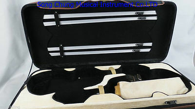 Strong black double case of 1pcs violins and 1pcs viola