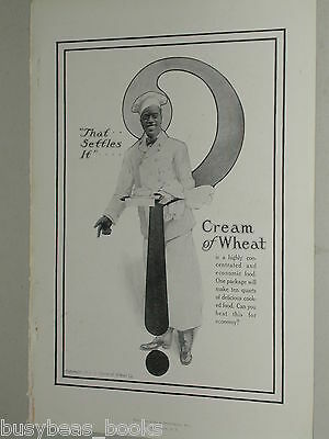 1918 Cream of Wheat advertisement, black cook, with large Question Mark