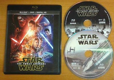 Star Wars: The Force Awakens (Blu-Ray Discs Only) With Case No Dvd, No Digital