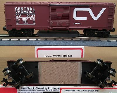 eSPee™ TRACK CLEANING BOX CAR - Lionel - CV / Central Vermont - O Scale
