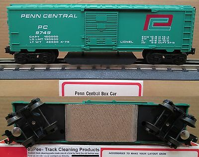 eSPee™ TRACK CLEANING BOX CAR - Lionel - PC / Penn Central - O Scale