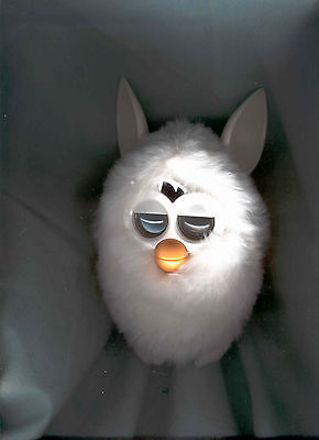 Rare White Big Furry Furby Works Great! Exc.