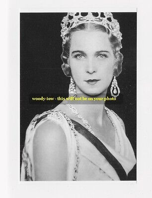 """mm439 - Princess Marie Jose of  Belgium as Queen of Italy - Royalty photo 6x4 """""""