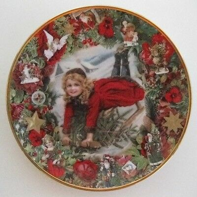 "Hamilton Collection ""Christmas Delivery"" 8"" Collector Plate Mint!"