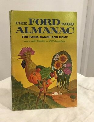 The FORD 1968 ALMANAC FOR FARM, RANCH AND HOME - Vintage Collectible Advertising