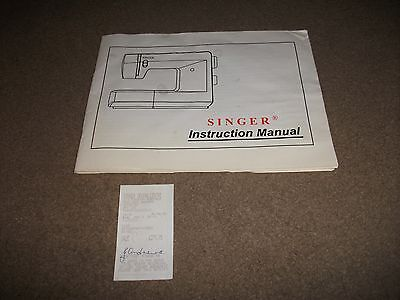 Vintage Singer Sewing Machine Instruction Book With Original Receipt For Machine