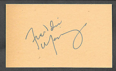 Freddie Mercury Queen Autograph Reprint On Original Period 1970s 3x5 Card