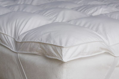 Goose Feather & Down Mattress Topper White , All Sizes Available Very Soft
