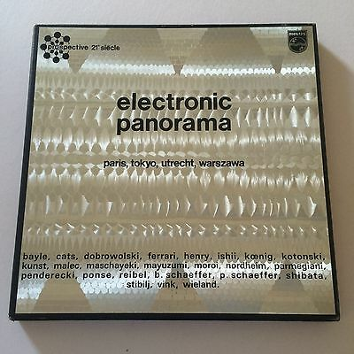 ELECTRONIC PANORAMA - Orig France Phillips 4 LP box set VG+/EX+ to NM vinyl