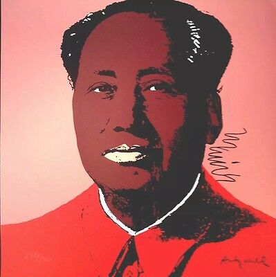 Andy Warhol Mao Tse Tung Monroe original limited Ed. Lithographie David Bowie 80