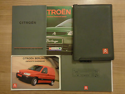 Citroen Berlingo Owners Handbook/Manual and Pack 99-02