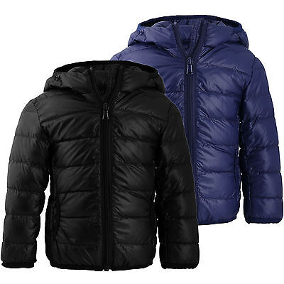 Boys Ultralight Hooded Duck Down Puffer Jacket Coat Warm Outwear Packable Parka