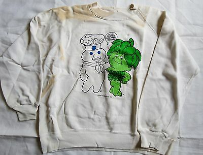 Pillsbury Doughboy green giant Sweater Pullover 1986 Vintage small