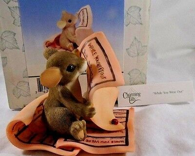 Charming Tails Figurine While You Were Out NIB