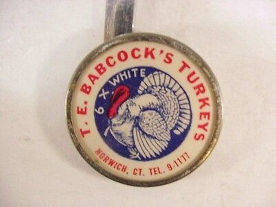 For the Turkey Collector - Set of 6 Turkey Tags T. E. Babcock's Turkeys CT 1931