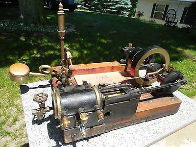 c1869 BATTLE CREEK MACHINERY CO.LIVE STEAM MILL ENGINE WHISTLE  & GOVERNOR RUNS