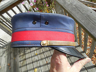 ORIGINAL EARLY 1900's RAILWAY CONDUCTOR HAT BY WILLIAM SCULLY CANADA SIZE 7 1/4