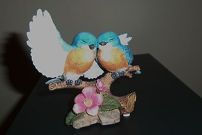 "4"" Blue Jay Figurine ""Garden Romances Forever Series"" Ex. Cond. Made in China"