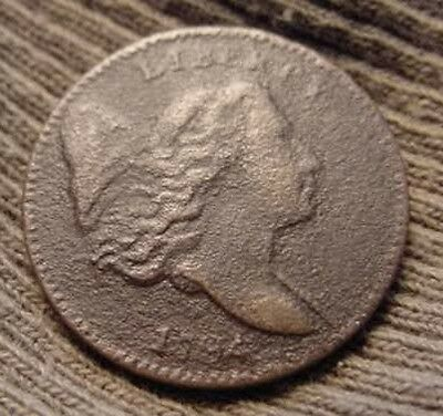 1794 Half Cent FLOWING HAIR LIBERTY CAP 1/2¢ Extra Fine VERY LOW MINTAGE 81,600