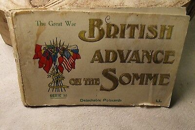 Postcard Booklet Cover Of British Advance On The Somme.