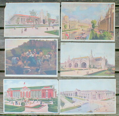 Lot of 6 1904 St. Louis Louisiana Purchase Exposition Prints