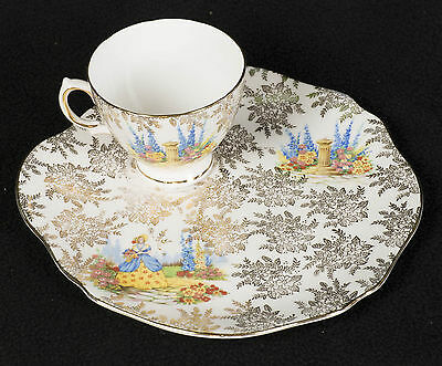 Colclough Cup and Large Saucer 22cm Porcelain China Made in England