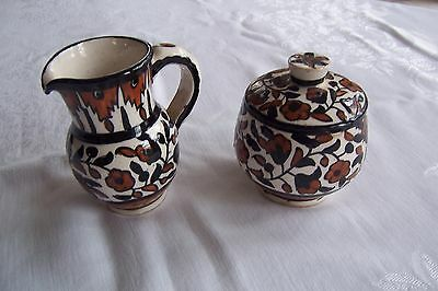 Vintage Balian-Armenian Pottery of Jerusalem Sugar and Creamer