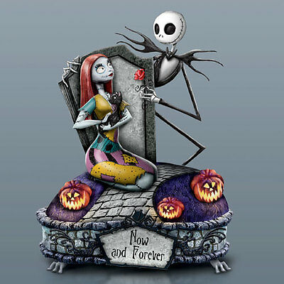 Nightmare Before Christmas NOW AND FOREVER JACK & SALLY  MUSICAL FIGURINE NMBX