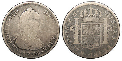 MEXICO Charles III 1774-Mo FM 4 Reales VG