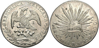 MEXICO: 1888 GO RR 8 Reales #WC69458