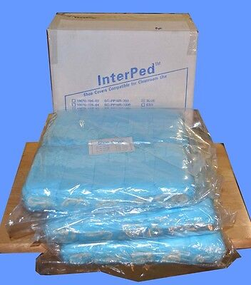 300 Disposable Shoe Covers non-skid / Clean Room / Hospital/ Medical Blue Large