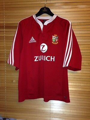 2005 Adidas British Lions Rugby Union Shirt Jersey Top L Large