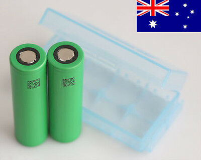 2x Sony US18650 VTC5 2600mAh HIGH CURRENT 30 Amp Rechargeable Battery +FREE Case