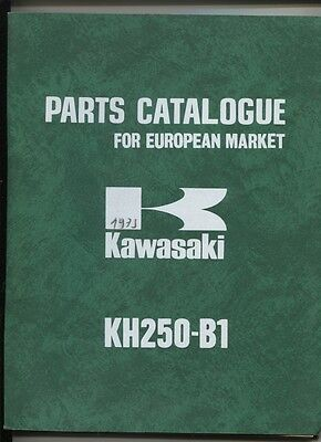 KAWASAKI : KH 250-B1 parts catalog for european market 1975