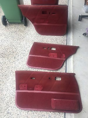 commodore vl calias turbo series 1 red front and rear door trims